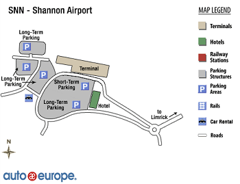 Shannon Airport Map